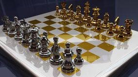 3d chess. 3d illustration of chess including all chess men Royalty Free Illustration