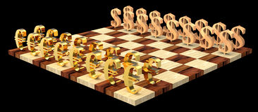 3D chess royalty free stock photo