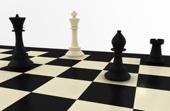 3D Chess Board Stock Photography