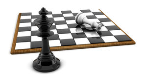 3d Chess board and pieces Royalty Free Stock Images