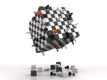 3d chess fighting stock photography