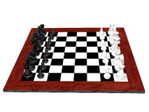 3D chess set Royalty Free Stock Images