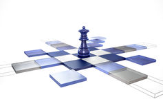 3D Chess Strategy Queen stock illustration