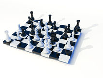 3d Chess Table. On white background Stock Photography