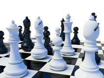 3d Chess Table. On white background Stock Photo