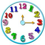 3D children's clock Royalty Free Stock Photography