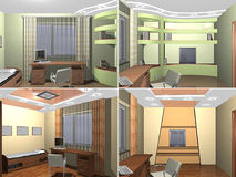 3D Childs bedroom Stock Images
