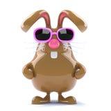 3d Chocolate Easter bunny Royalty Free Stock Photos