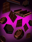 3D of Chocolates Stock Photos