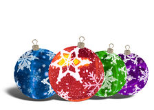 3D Christmas Balls background Stock Photo