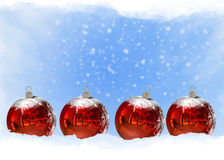3D Christmas Balls background Royalty Free Stock Images