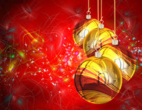 3D Christmas Balls background Stock Image