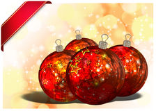3D Christmas Balls background Royalty Free Stock Image