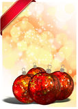 3D Christmas Balls background Stock Images