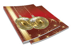 3D Christmas balls picture book Royalty Free Stock Photo