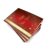3D Christmas balls picture book Stock Photo