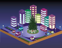 3D Christmas city Stock Image