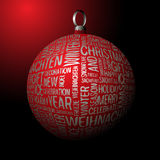 3D Christmas decoration Royalty Free Stock Photography