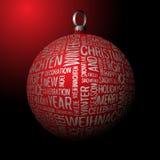 3D Christmas decoration vector illustration