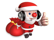 3d christmas eve of santa claus Stock Photos