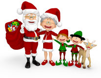 3D Christmas family Royalty Free Stock Images