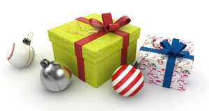 3d christmas gift boxes Stock Photography