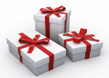 3D Christmas gifts Royalty Free Stock Photography