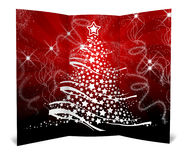 3D christmas greeting card Stock Images