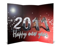 3D christmas greeting card Stock Photography