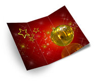 3D christmas greeting card Royalty Free Stock Photo