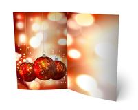 3D christmas greeting card Royalty Free Stock Photography
