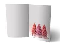 3D christmas greeting card Stock Photo