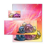 3D christmas greeting card Royalty Free Stock Image