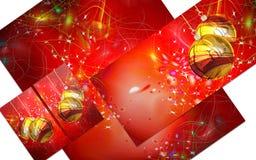 3D christmas greeting card Stock Image
