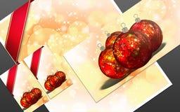 3D christmas greeting card Royalty Free Stock Photos