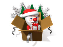 The 3d christmas pop-up box Royalty Free Stock Photo