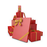 3D Christmas present Stock Photo