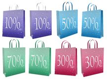 3d Christmas sale bags Stock Photos