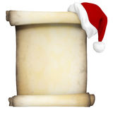 3D Christmas scroll Stock Photography