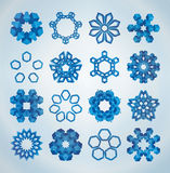3D Christmas snowflakes. Abstract 3D Christmas snowflakes for your design on white background Royalty Free Stock Photography