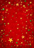 3D Christmas Stars. Star shapes on a grungy red background Royalty Free Stock Images