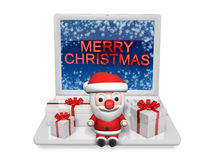 3d christmas in the technology Stock Photo