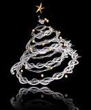 3D Christmas tree Stock Photography