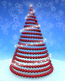 3d christmas tree Royalty Free Stock Photos