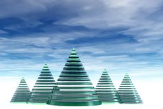 3D christmas tree Stock Photography