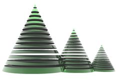 3D christmas tree Royalty Free Stock Images