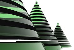 3D christmas tree Royalty Free Stock Photo