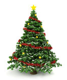 3d Christmas tree. Isolated on white Stock Photography