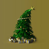 3D - Christmas tree Stock Photo