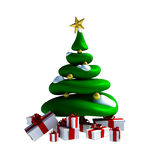 3D - Christmas tree Royalty Free Stock Photo